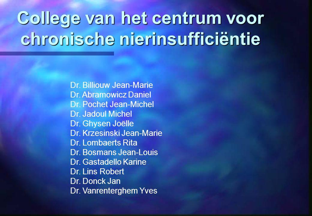 College van het centrum voor chronische nierinsufficiëntie Dr.
