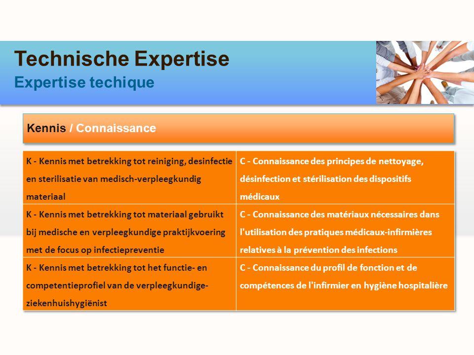 Technische Expertise Expertise techique Kennis / Connaissance