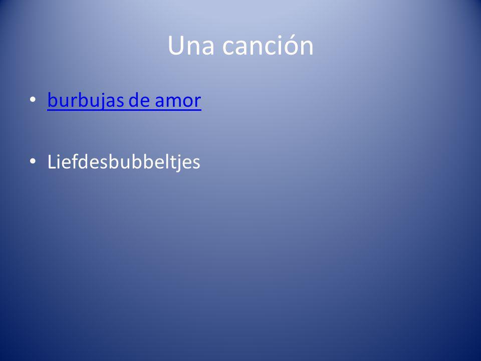 Una canción burbujas de amor Liefdesbubbeltjes