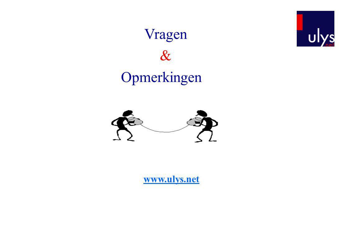 www.ulys.net Vragen & Opmerkingen