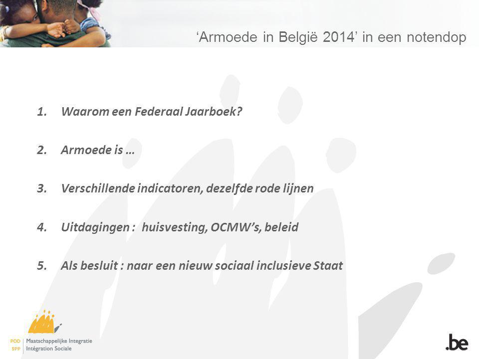 Armoede in België 2014 in een notendop 1.Waarom een Federaal Jaarboek.