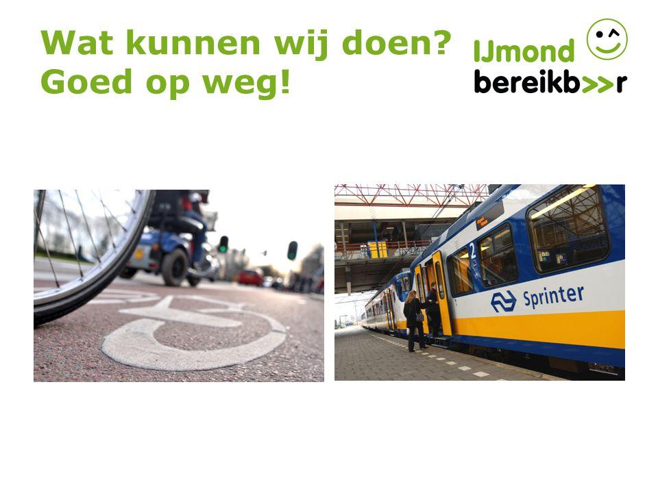 Fietsers ontvangen van IJmond Bereikbaar: 10 cent (zomer) en 15 cent (winter) voor de gefietste woon/werk verkeer kilometers.