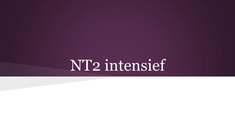 NT2 intensief