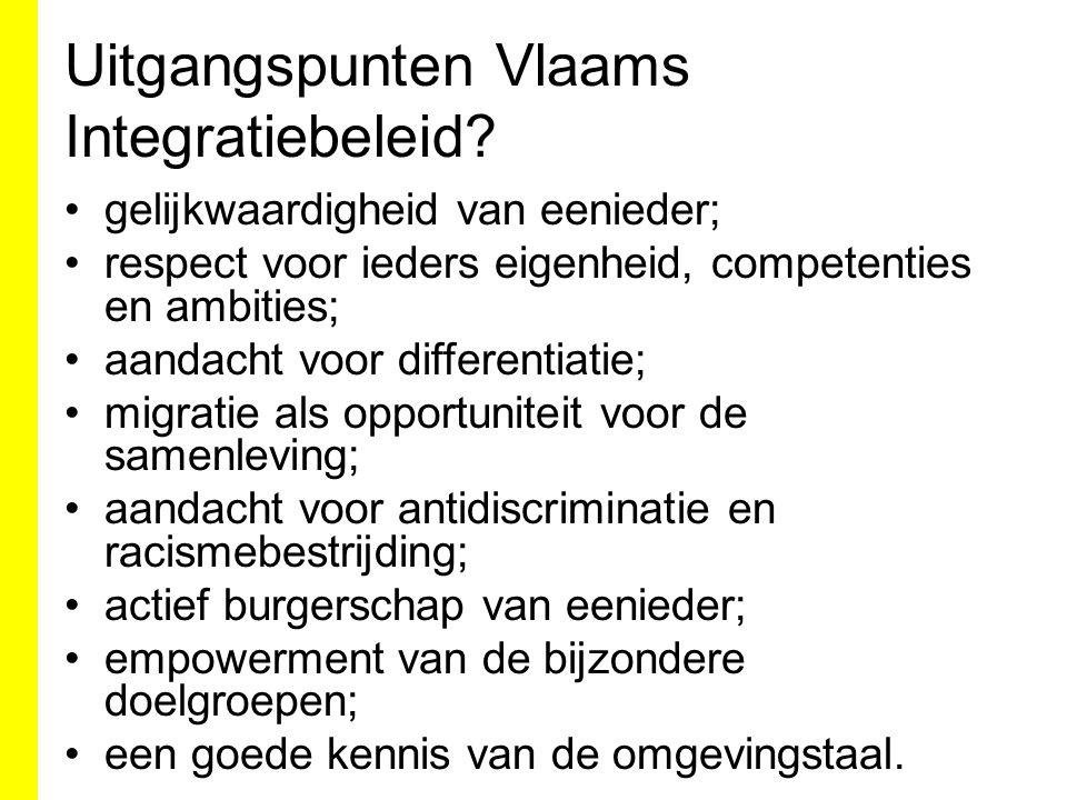 Uitgangspunten Vlaams Integratiebeleid.