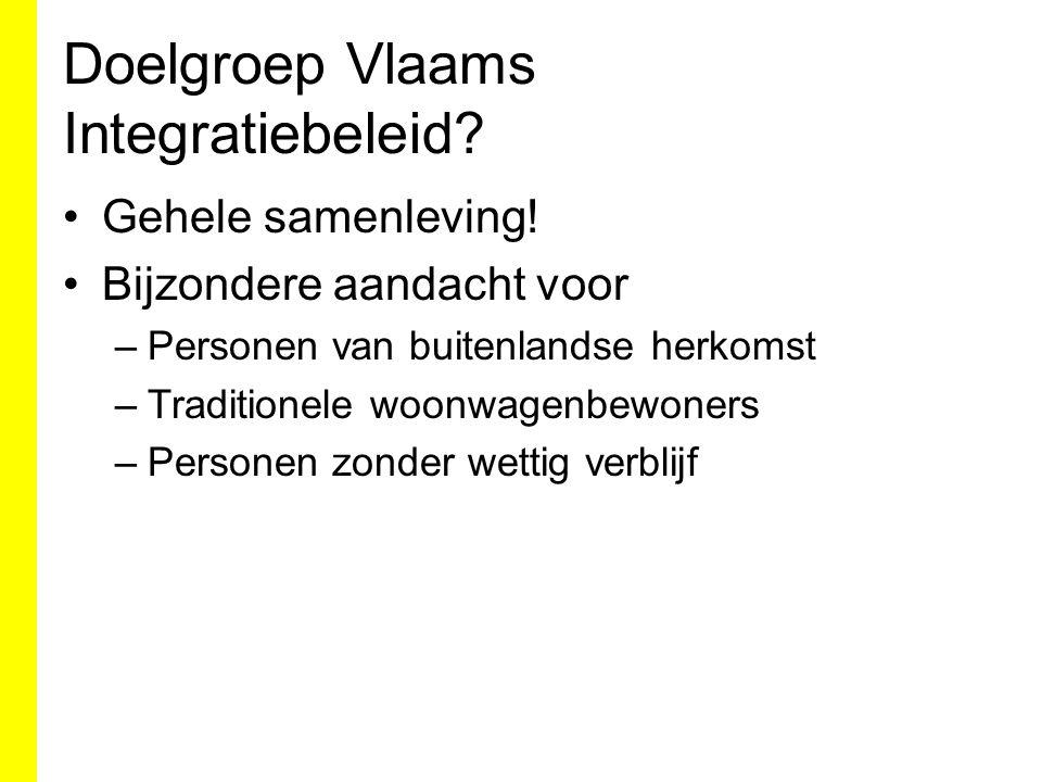 Doelgroep Vlaams Integratiebeleid. Gehele samenleving.