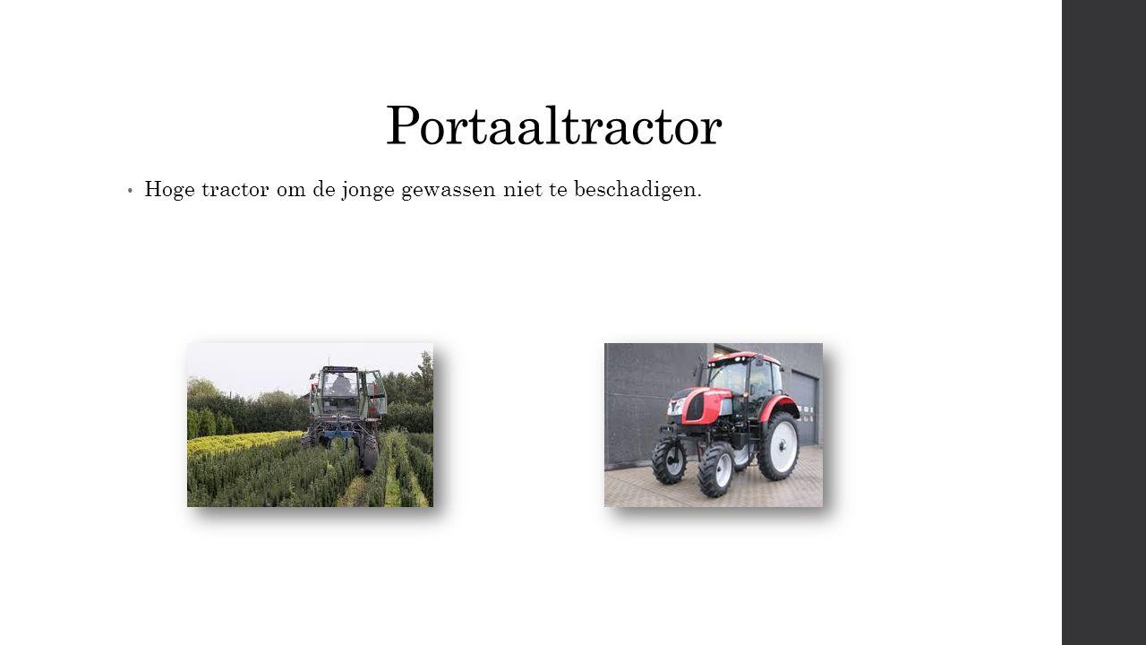 Portaaltractor Hoge tractor om de jonge gewassen niet te beschadigen.
