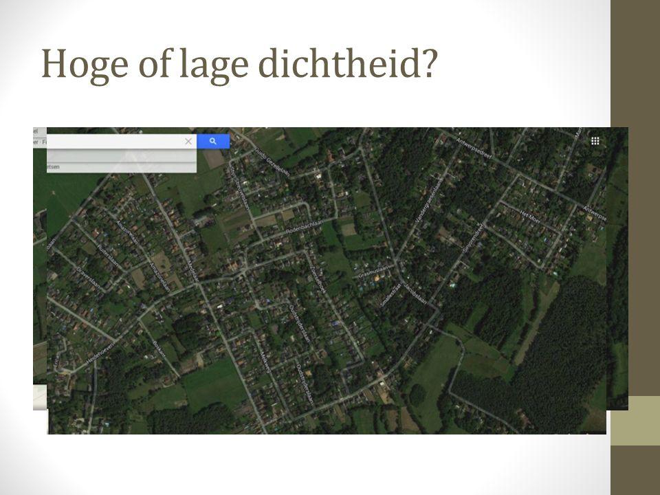 Hoge of lage dichtheid?