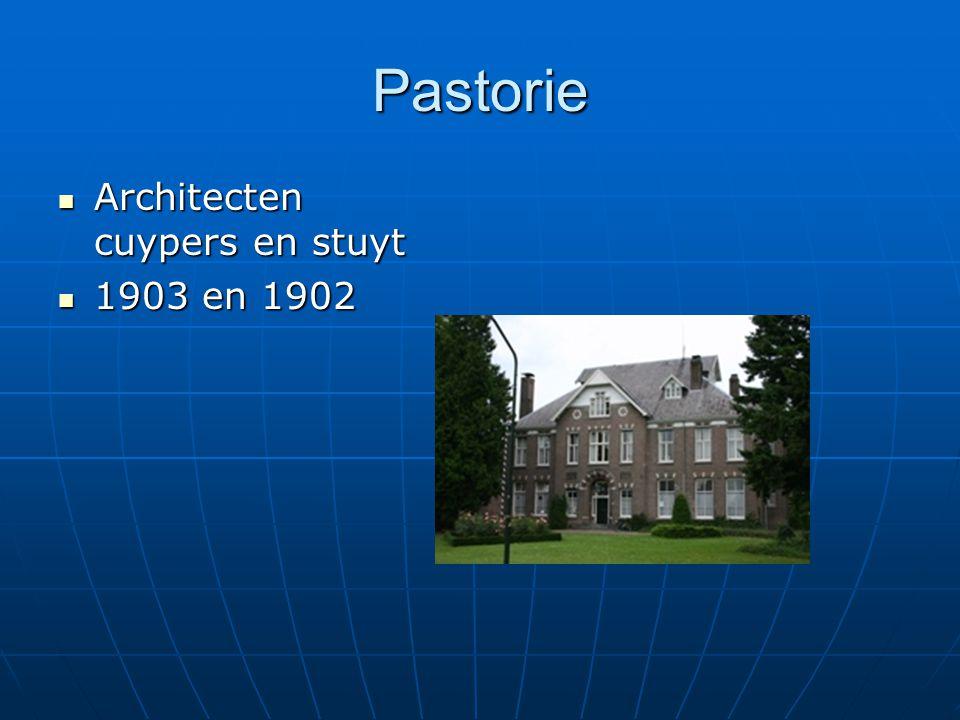 Pastorie Architecten cuypers en stuyt Architecten cuypers en stuyt 1903 en 1902 1903 en 1902