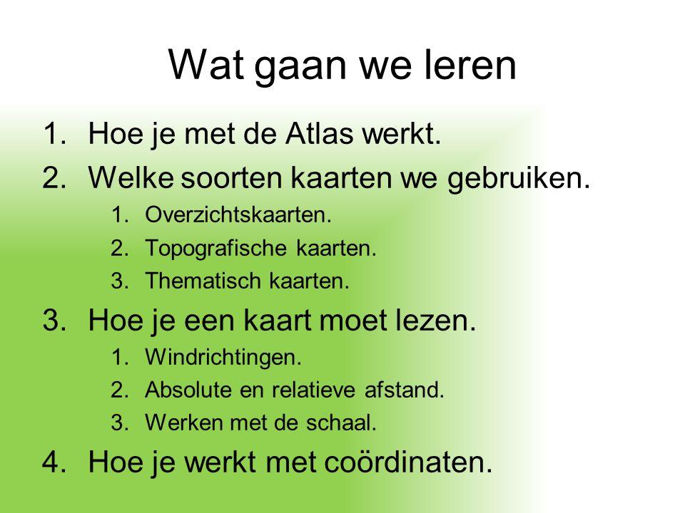 De Atlas Algemene legenda ( voorschutblad).