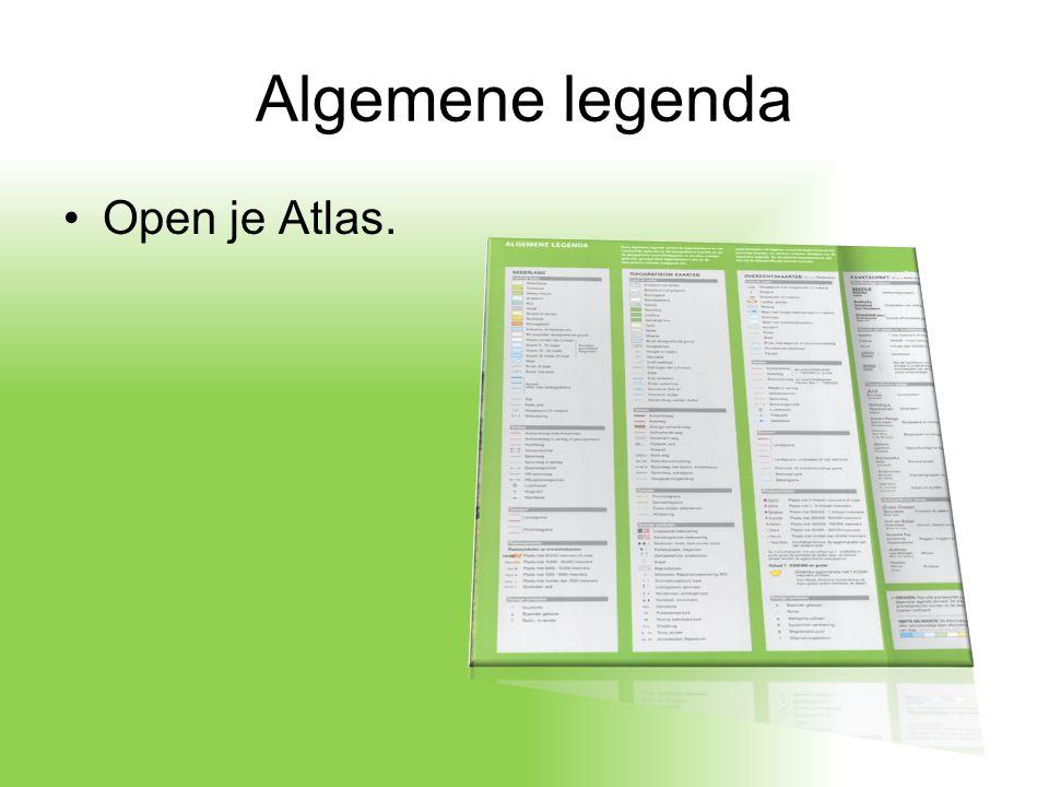Algemene legenda Open je Atlas.