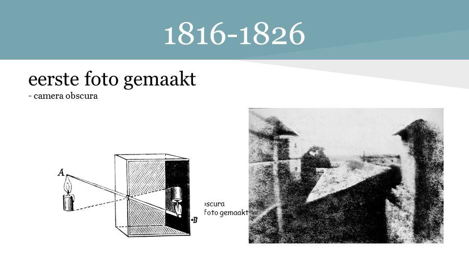 1816-1826 eerste foto gemaakt - camera obscura Camera Obscura de eerste foto gemaakt