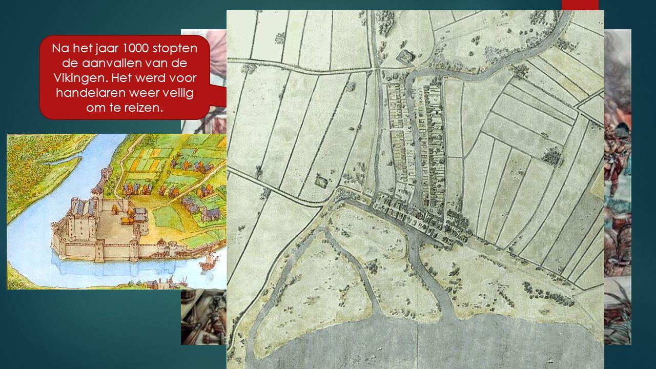 In Noordwest Europa ontstonden steden door de nieuwe landbouwmethoden.