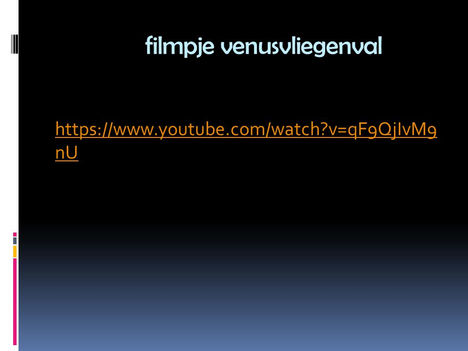 filmpje venusvliegenval https://www.youtube.com/watch v=qF9QjIvM9 nU