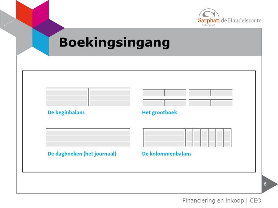 6 Financiering en inkoop | CEO Boekingsingang