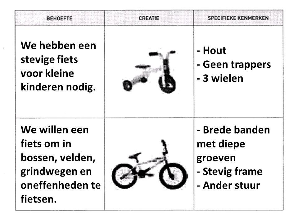 We hebben een stevige fiets voor kleine kinderen nodig.
