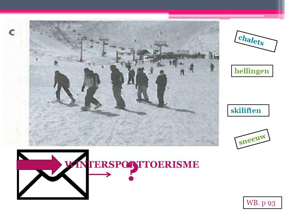 sneeuw hellingen skiliften chalets ? WINTERSPORTTOERISME WB. p 93