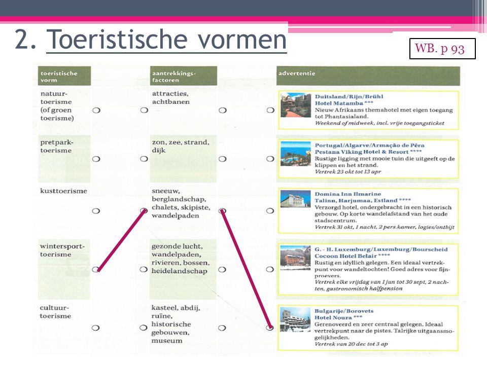 2. Toeristische vormen WB. p 93
