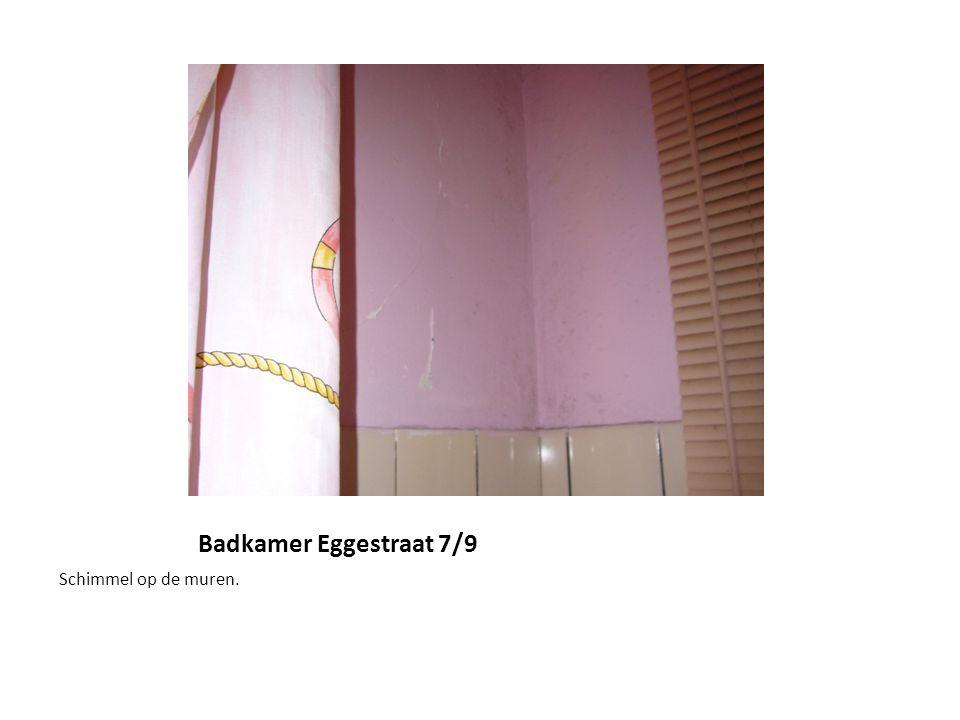 Badkamer Eggestraat 7/9 Schimmel op de muren.