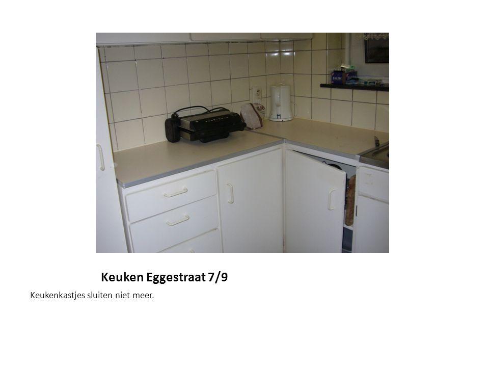 Keuken Eggestraat 7/9 Keukenkastjes sluiten niet meer.