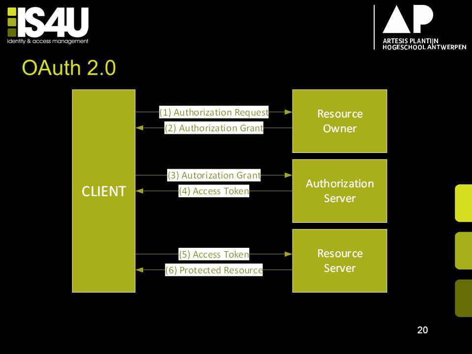 OAuth 2.0 20