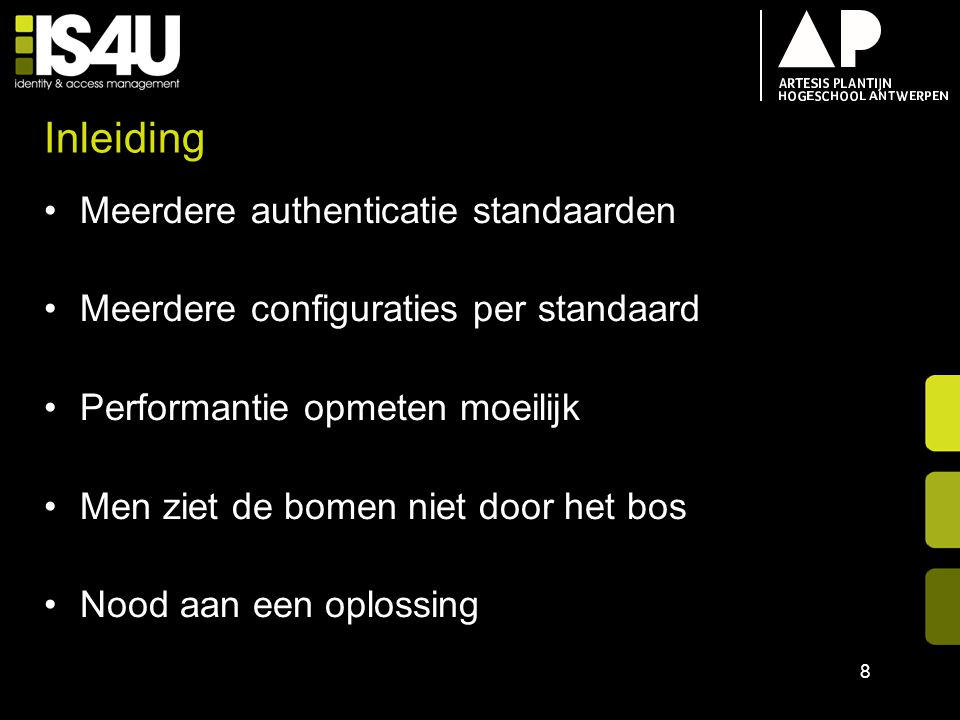 Inhoud IS4U Inleiding Opdracht Authenticatie Modules –Gebruikersnaam & Wachtwoord –SAML 2.0 –OAuth 2.0 –eID Data Monitoring Demo 19