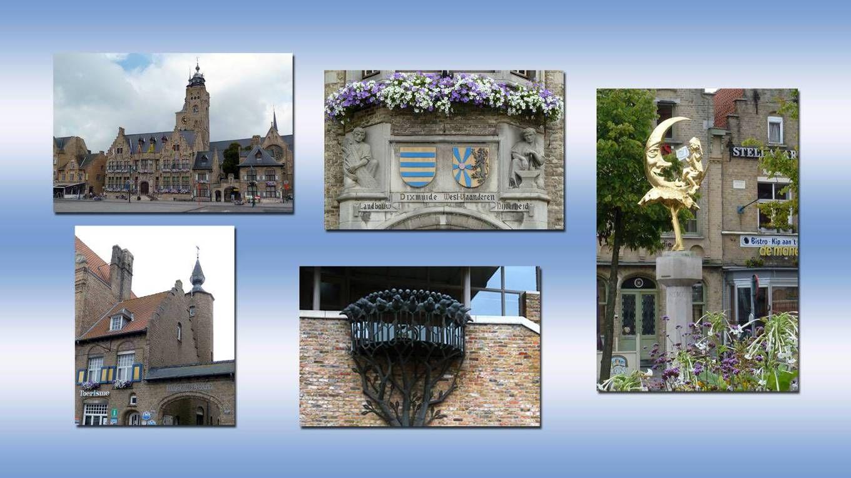 Diksmuide met veel pittoreske hoekjes en het verrassende erfgoed tijdens de Stadslinkwandeling door het oude historische centrum, zoals de markt met zijn Manneke uit de Mane, het Stadhuis, het Begijnhof, de Vismarkt en de St.-Niklaaskerk Diksmuide met veel pittoreske hoekjes en het verrassende erfgoed tijdens de Stadslinkwandeling door het oude historische centrum, zoals de markt met zijn Manneke uit de Mane, het Stadhuis, het Begijnhof, de Vismarkt en de St.-Niklaaskerk