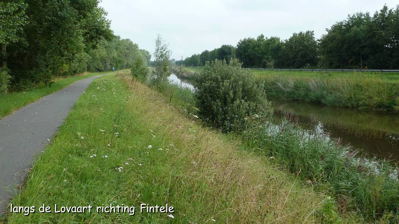 langs de Lovaart richting Fintele