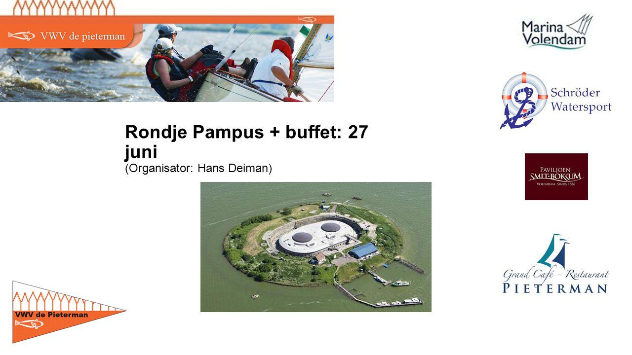 Rondje Pampus + buffet: 27 juni (Organisator: Hans Deiman)
