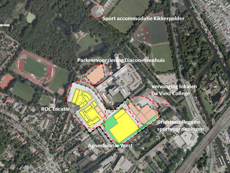 Parkeervoorziening Diaconessenhuis Agneslocatie-West Driestarcollege en sportvoorzieningen Sport accommodatie Kikkerpolder Vervanging lokalen Da Vinci