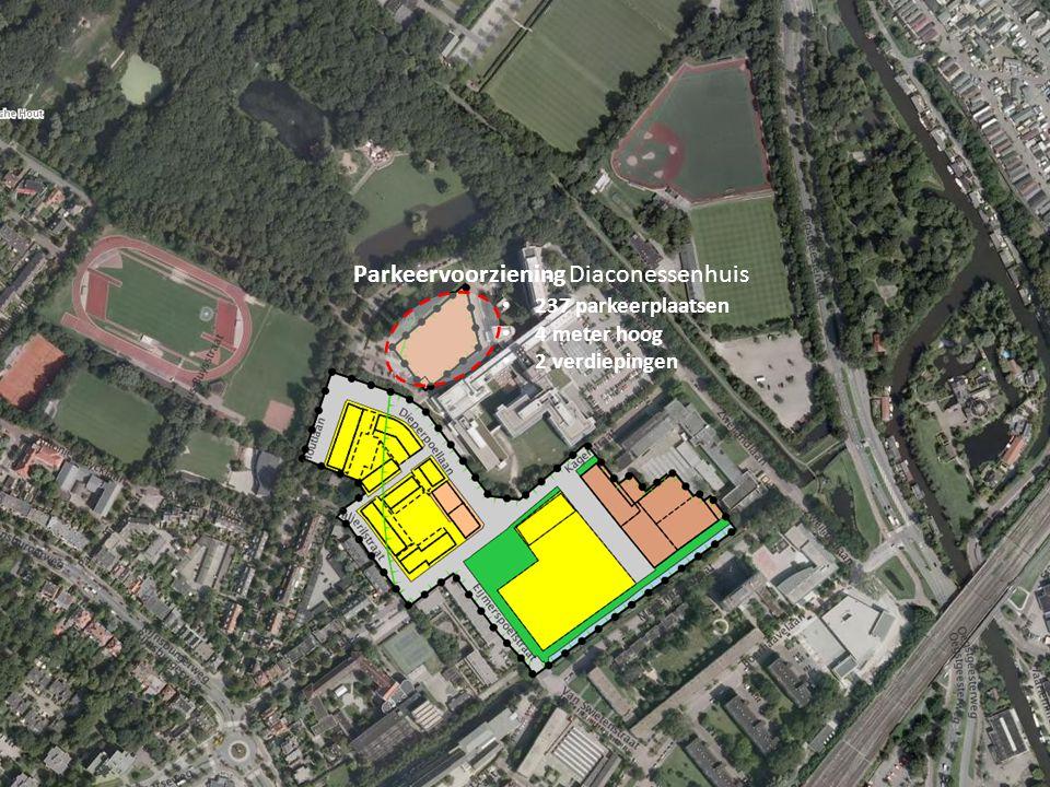 Parkeervoorziening Diaconessenhuis 237 parkeerplaatsen 4 meter hoog 2 verdiepingen