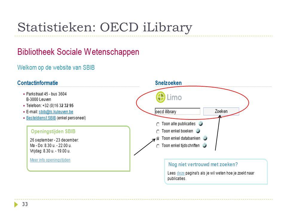 Statistieken: OECD iLibrary 33