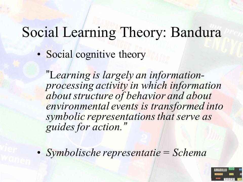 Social Learning Theory Waarom heeft een reclamecampagne waarin een populaire popgroep optreedt succes bij jongeren.