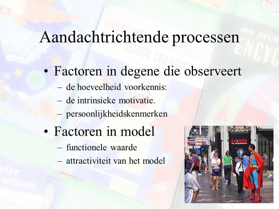 SLT: subprocessen Attentional processes Retentional processes Production processes Motivational processes