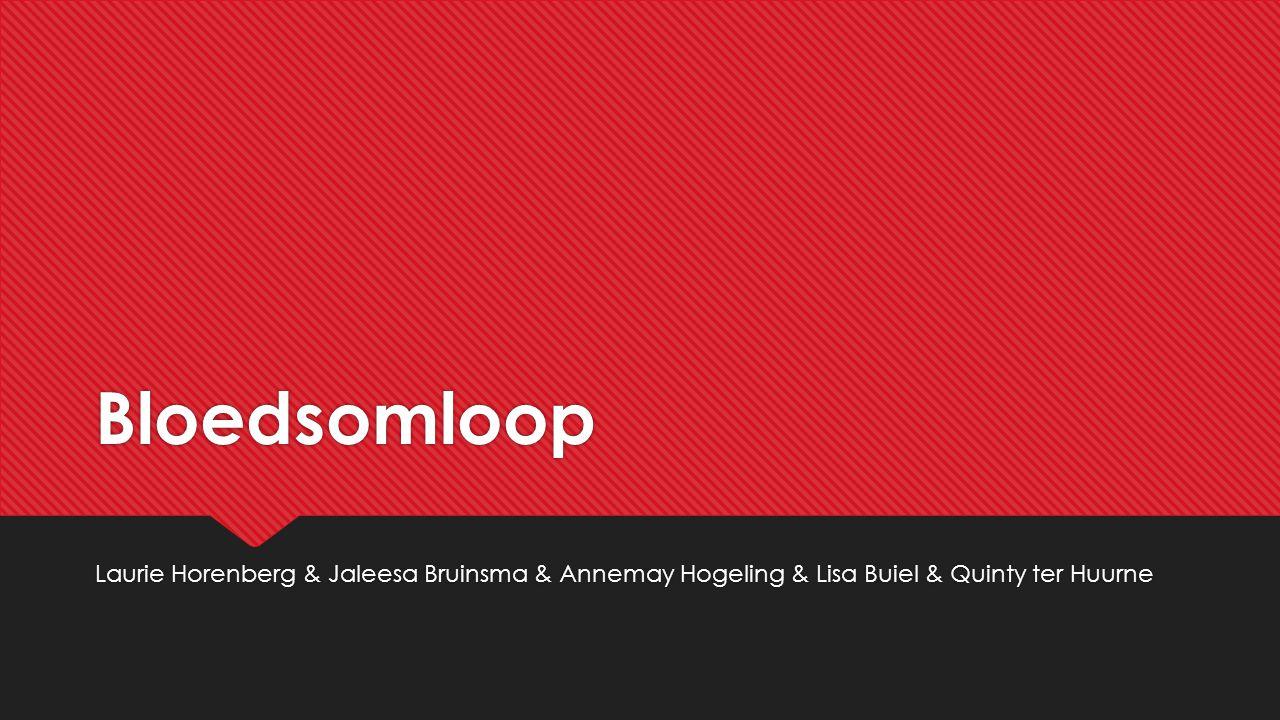 Bloedsomloop Laurie Horenberg & Jaleesa Bruinsma & Annemay Hogeling & Lisa Buiel & Quinty ter Huurne