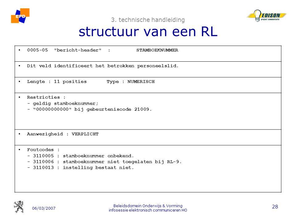 06/03/2007 Beleidsdomein Onderwijs & Vorming infosessie elektronisch communiceren HO 28 3.
