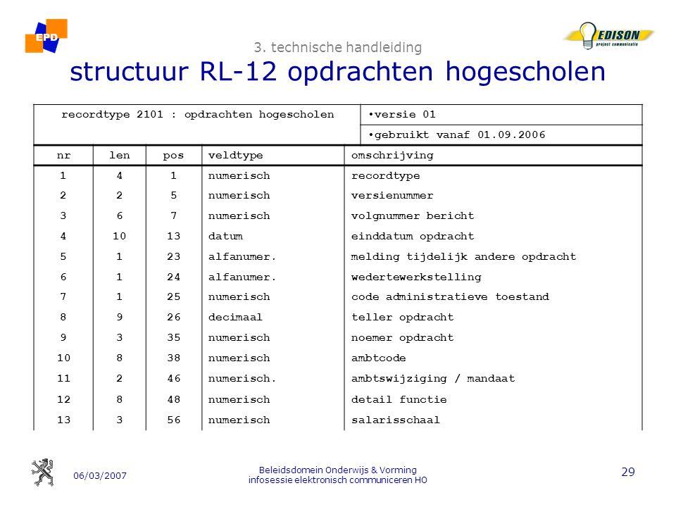 06/03/2007 Beleidsdomein Onderwijs & Vorming infosessie elektronisch communiceren HO 29 3.