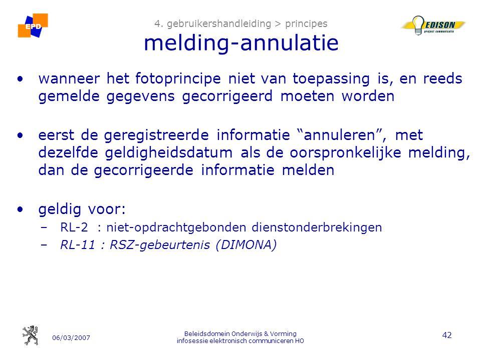 06/03/2007 Beleidsdomein Onderwijs & Vorming infosessie elektronisch communiceren HO 42 4.