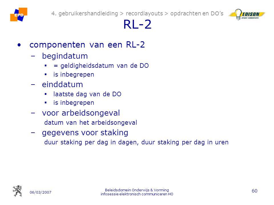 06/03/2007 Beleidsdomein Onderwijs & Vorming infosessie elektronisch communiceren HO 60 4.