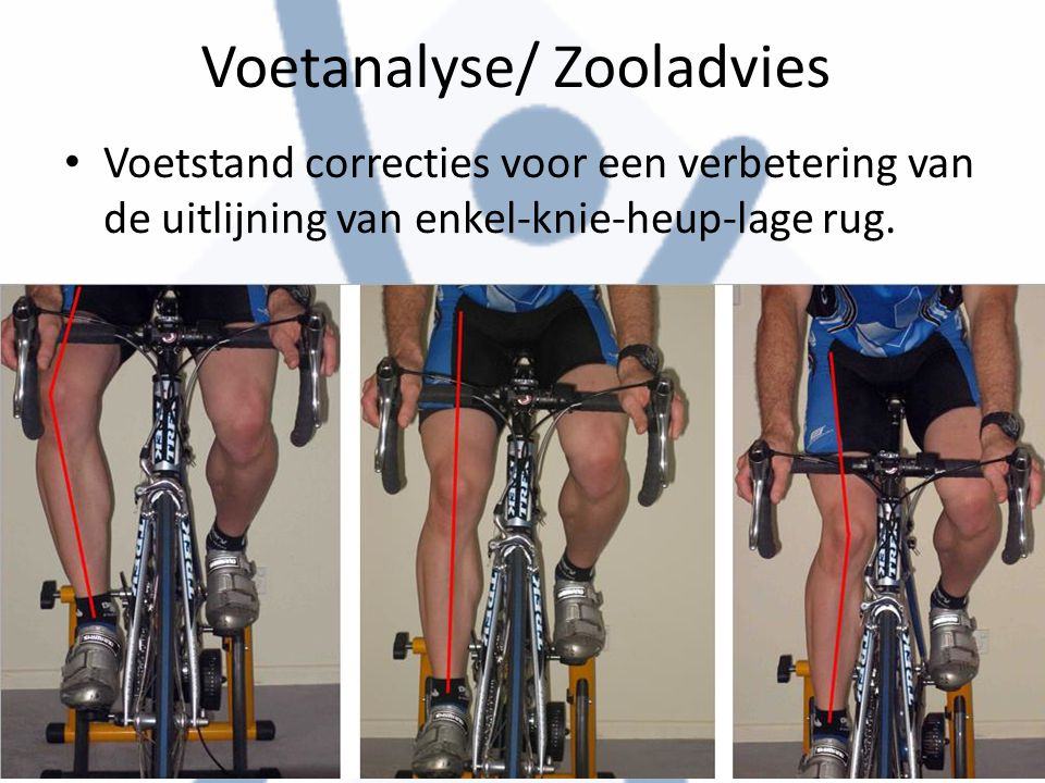 Voetanalyse/ Zooladvies Voetstand correcties voor een verbetering van de uitlijning van enkel-knie-heup-lage rug.