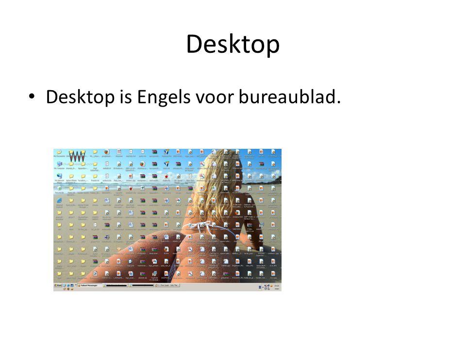 Desktop Desktop is Engels voor bureaublad.