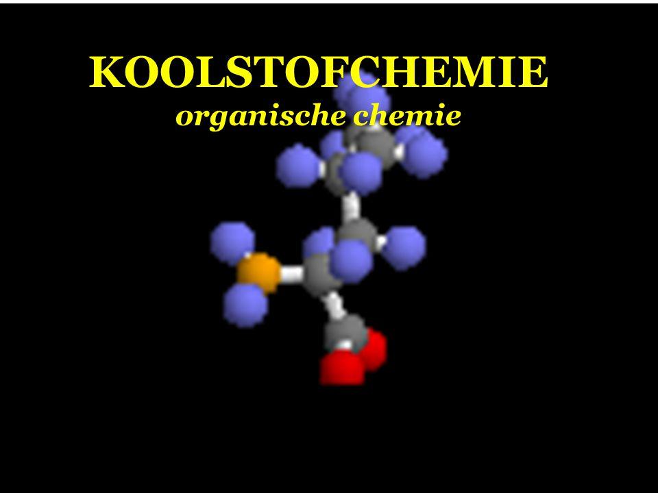 KOOLWATERSTOFFEN Koolwaterstoffen bevatten de atoomsoorten koolstof (C) en waterstof (H) Koolstof (C) Waterstof (H)