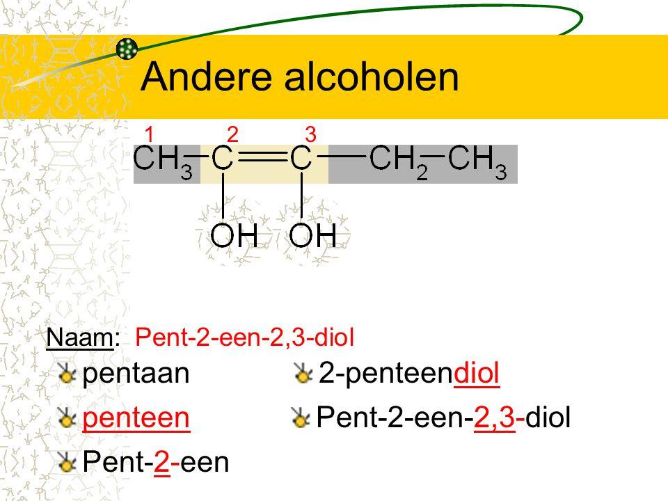 Andere alcoholen pentaan 3 penteen Pent-2-een Naam:Pent-2-een-2,3-diol 12 2-penteendiol Pent-2-een-2,3-diol