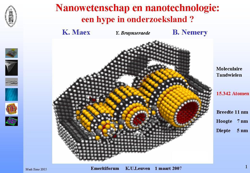 Atomen Zien Scanning Tunneling Microscoop 10 eV 0.1 nm Elektronen Microscoop 1MeV 0.1 nm H.Rohrer Nobelprijs Natuurkunde 1986 G.Binnig A.