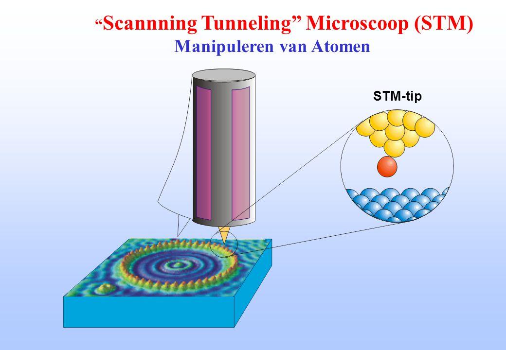 "STM-tip "" Scannning Tunneling"" Microscoop (STM) Manipuleren van Atomen"