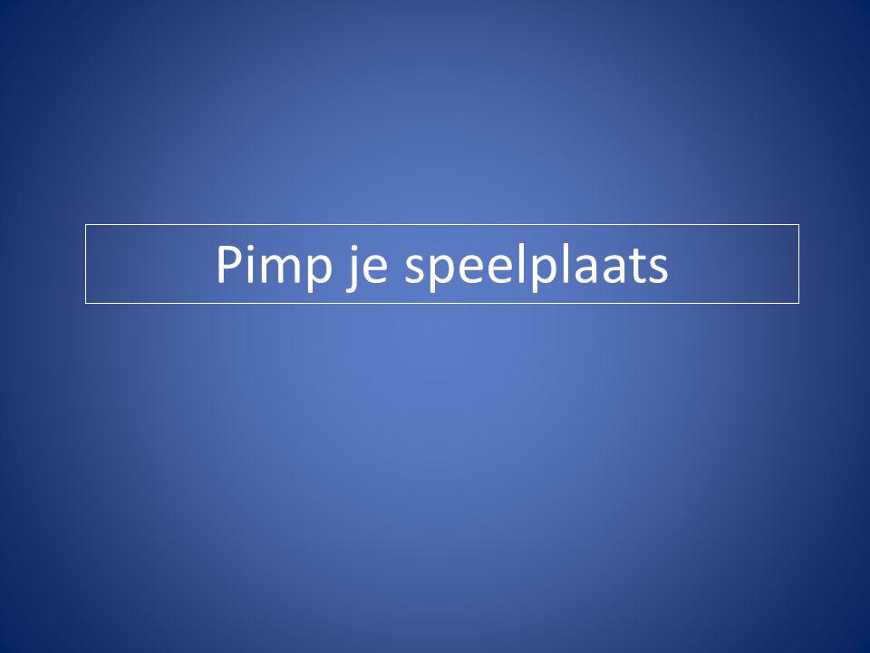 De wedstrijd 'Pimp je speelplaats' van Klasse.