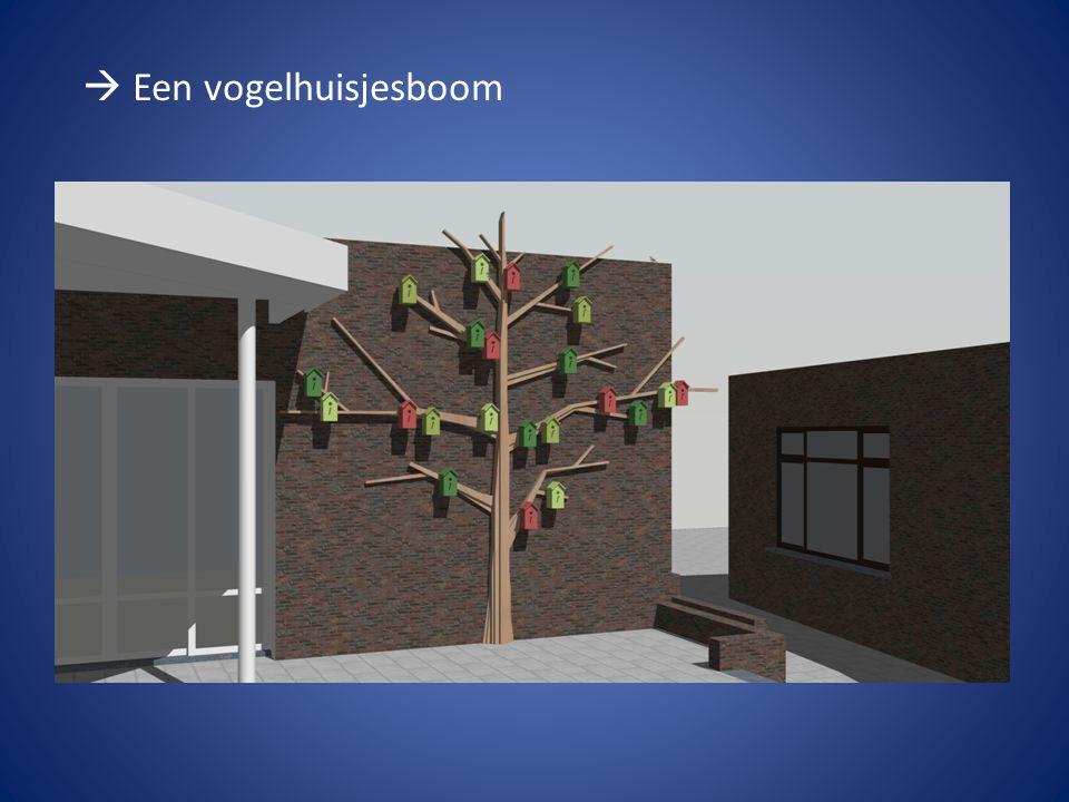  Een vogelhuisjesboom