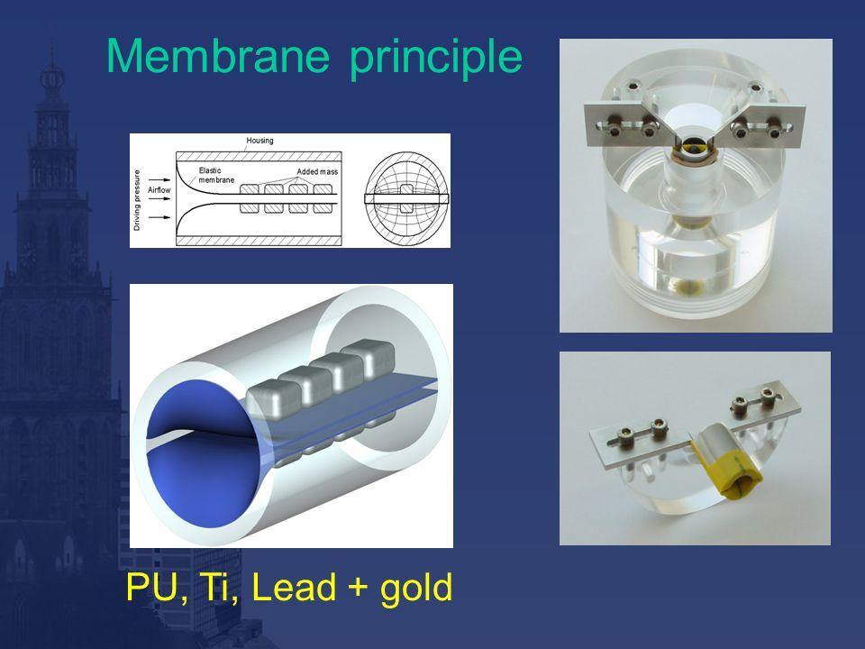 Membrane principle PU, Ti, Lead + gold