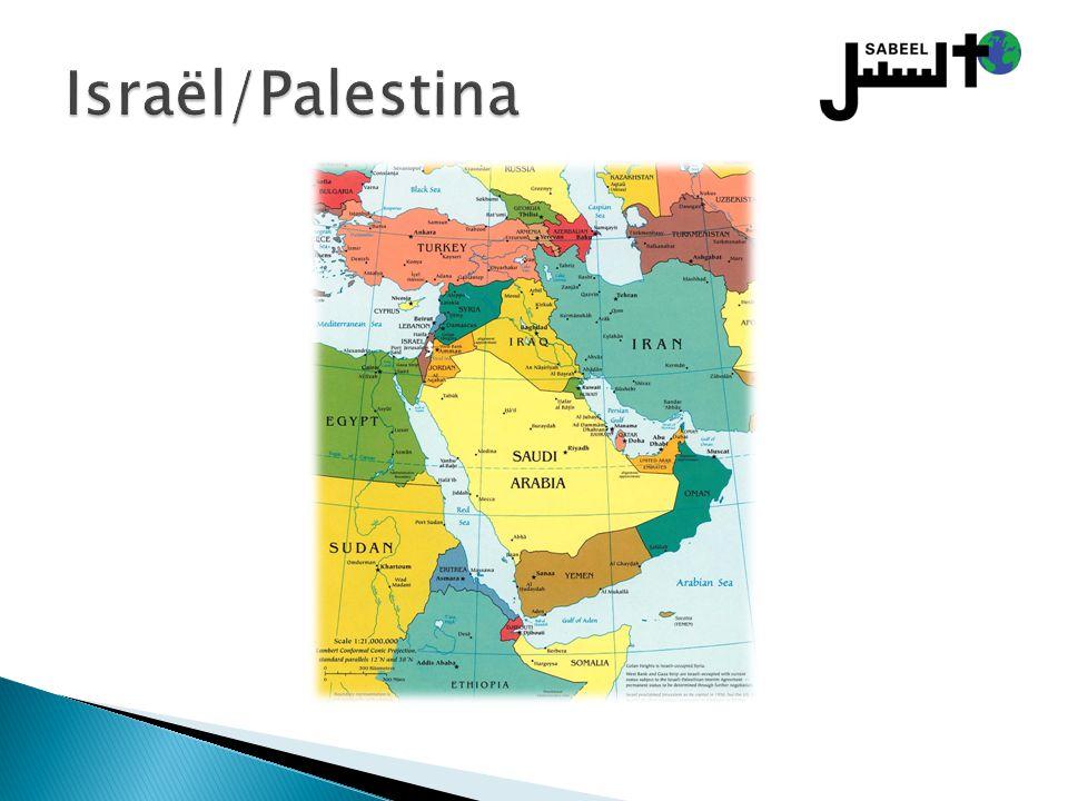  In Israël: ◦ 150.000 (2% totale bevolking, 10% Arabische Israëliërs, voornamelijk in Jeruzalem en Nazareth)  Op de Westelijke Jordaanoever ◦ 40.000 (>2% totale bevolking, voornamelijk in en rond Bethlehem)  In Gaza ◦ 2000 (>1% totale bevolking)  Ter vergelijking: ◦ 1947: aantal Arabische christenen in Palestina 400.000, (20% totale bevolking)