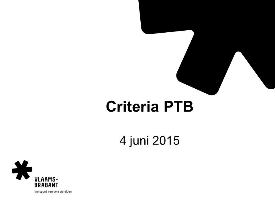 Criteria PTB 4 juni 2015