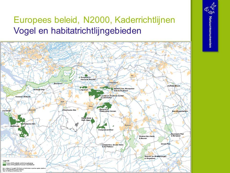 Europees beleid, N2000, Kaderrichtlijnen Vogel en habitatrichtlijngebieden
